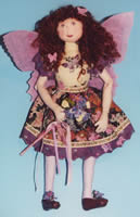 Butterfly fairy cloth and painted doll