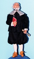 Sculpey miniature doll Galileo