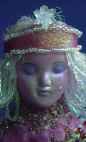 closeup of goddess' face and bead tears
