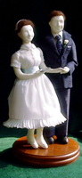 Johns and Elizabeth at their wedding cloth