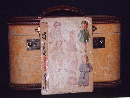 The original train case and Shirley Temple patterns