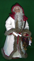 Sculpey Father Christmas after a Victorian postcard