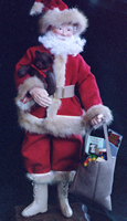 Santa with recycled mink and wool