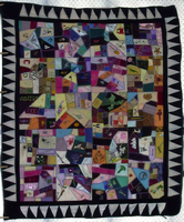 Double sized crazy quilt