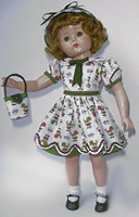 Unmarked hard plastic doll based on Patsy