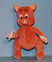 Velvet porky pig stuffed animal