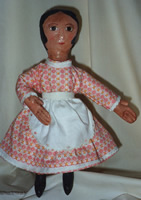 Crackle painted cloth doll