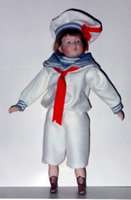 Mary Annes bisque head boy doll