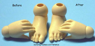 sd10 girl hands and feet sanded and cleaned
