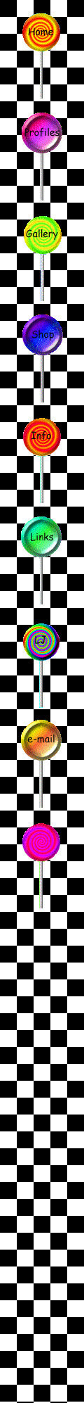 lollypops on checkerboard background